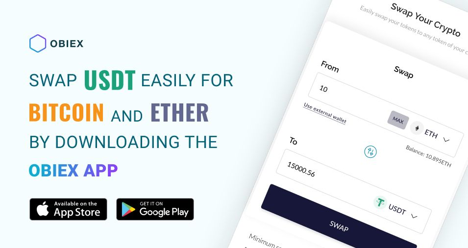 Obiex app interface